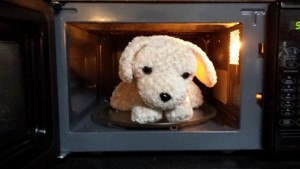 Puppy microwaveable warmer