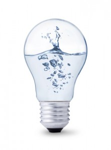 Water in a light bulb