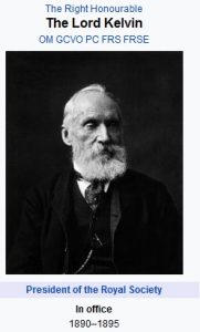 Lord Kelvin investigator of moisture in the air