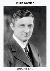 Willis Carrier inventor of mechanical air conditioning